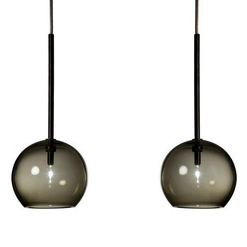 Pair of  Pendant Lights – black<br>Refer &#038; Staer<br>&#8211;<br>2 items<br>&#8211;<br>£100 per item