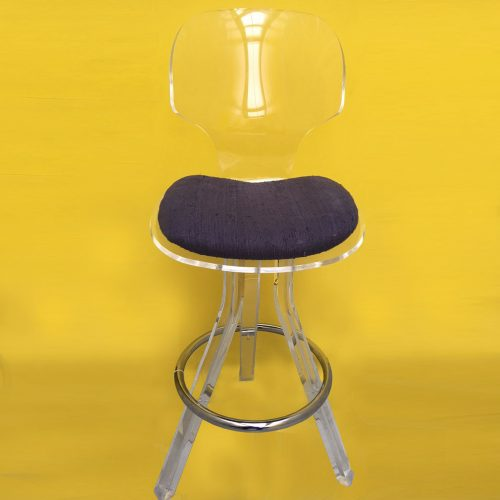 Perspex bar stool<br>&#8211;<br>1 item<br>Seat H76cm<br>&#8211;<br>£350
